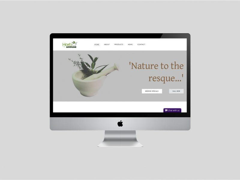 Website Design | Herbafrique | Our Work | Odd Poppy