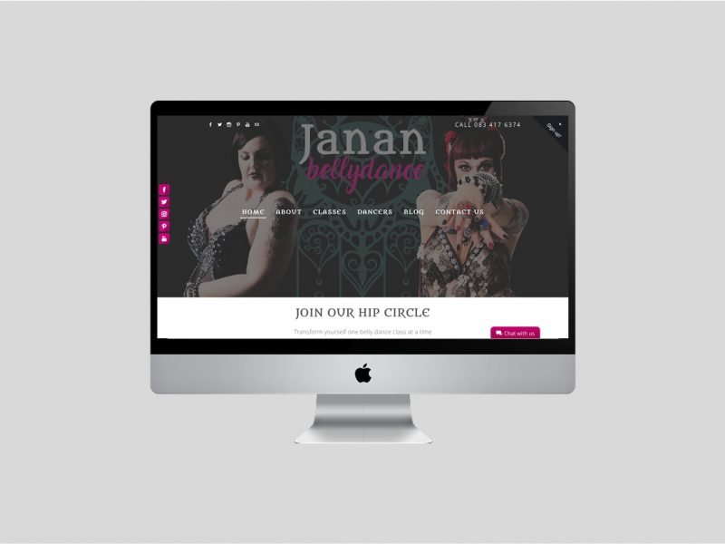 Website Design | Janan Bellydance | Our Work | Odd Poppy