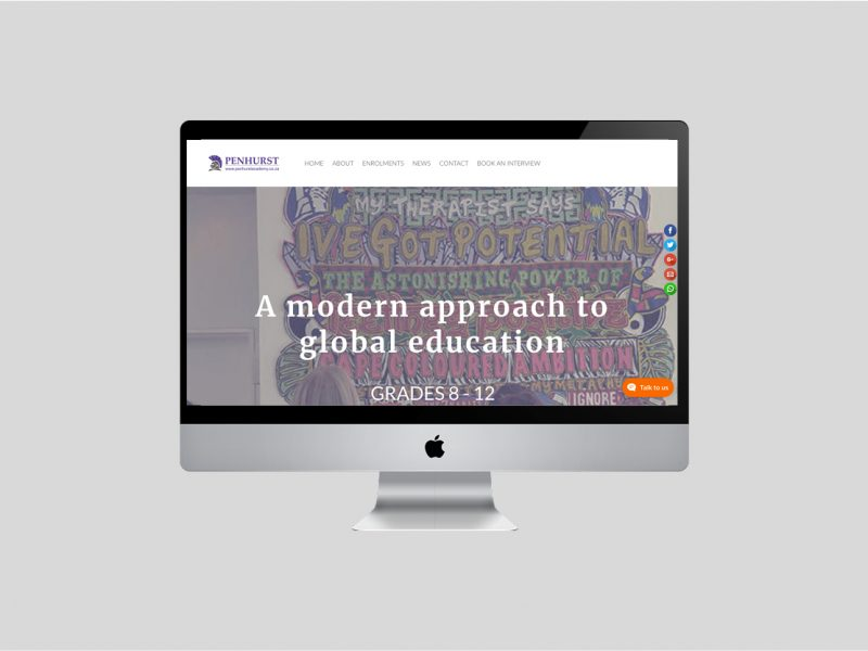 Website Design | Penhurst Academy | Our Work | Odd Poppy
