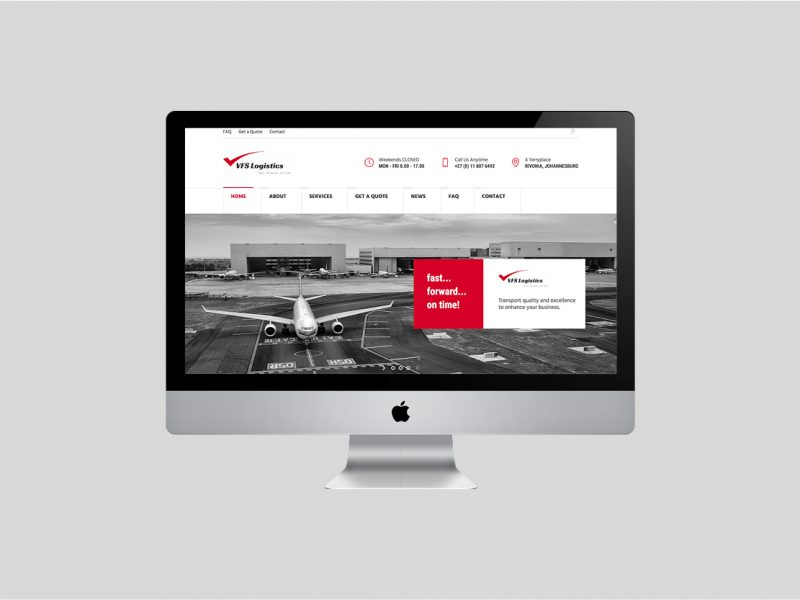 Website Design | VFS Logistics | Our Work | Odd Poppy